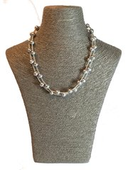 Silver Freshwater Double Strand Necklace