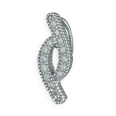 Sterling Silver Curve CZ Pendent