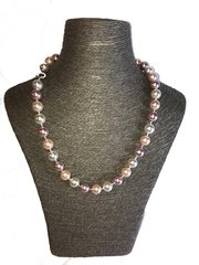 Multi Colour Large Shell Pearl Necklace