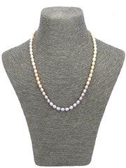 Graduated Multi-Tone Pearl Necklace
