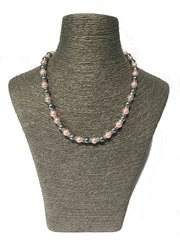 Grey and Pink Shell Pearl Necklace