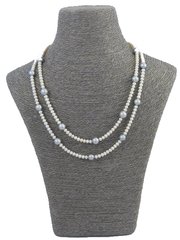 Double Strand Mini Pearl Necklace