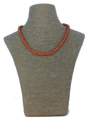 Weaved Red and Gold Necklace