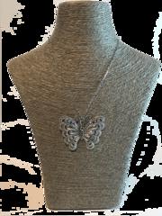 Italian Silver Butterfly Pendant