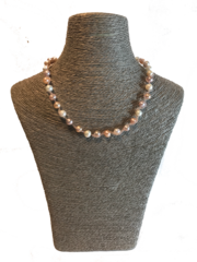 Freshwater Pearl and Twisted Glass Necklace