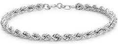 Silver Bracelet Rope Design