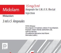 MIDOLAM 5MG/ML 3 MLAMP