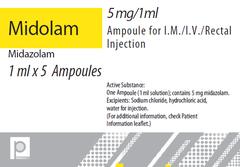 MIDOLAM 5MG/ML 1MLAMP