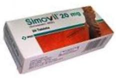 SIMOVIL TAB 20MG 30'S
