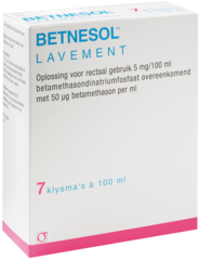 BETNESOL RETENTION ENEMA (CORTICOSTEROID HORMONE AND RELATED COMPOUND)