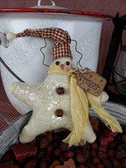 Frozen Star Snowman Ornie