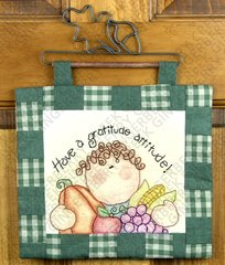 Gratitude Attitude Quilted Stitchery Wall Hanging