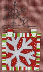 Snowflake Mini Quilt with Snowflake Hanger
