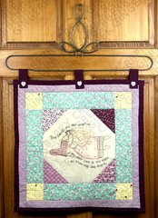 True Friends are Angels Quilted Stitchery Wall Hanging
