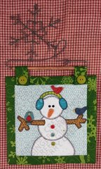Snowman Mini Quilt with Snowflake Hanger