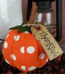 Thankful - Small Polka Dot Pumpkin