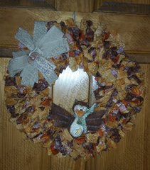 Autumn Greetings Wreath featuring Hoot Owl