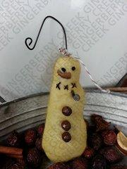 Mini Snowman with Nail Pipe Ornie