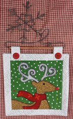 Reindeer Mini Quilt with Snowflake Hanger