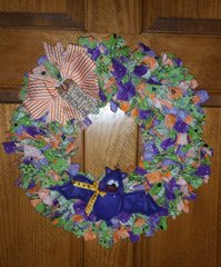 Happy Haunting Wreath featuring Fangtastic Bat