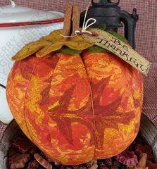 Be Thankful - Large Leaf print Pumpkin