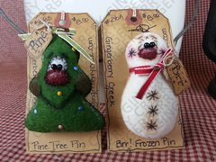Christmas Nature Pins Ornies Pattern #143