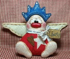 Little Lady Liberty Angel Finished Handmade OOAK Primitive Doll
