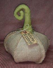 Primitive Natural Burlap Pumpkin