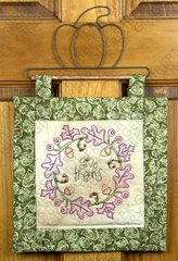Give Thanks Quilted Stitchery Wall Hanging