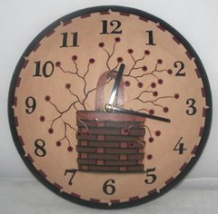 Berry Basket Wall Clock