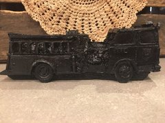 Carved Coal Fire Truck