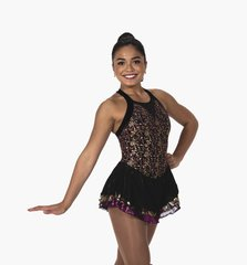 Figure Skating Dress Jerry's Gold Inlay