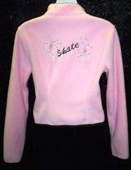 Figure Skating Jacket Pink Polar Fleece with Embroidery Adult Medium