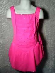 Figure Skating Dress JNS Hot Pink Mesh Girls Large