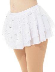 Mondor White Glitter Mesh Pull On Skirt