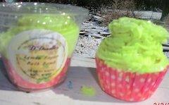 Lemon Sugar Bath bomb cupcake