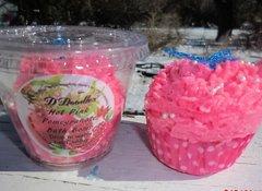 Hot Pink pomagranate Bath Bomb cupcake