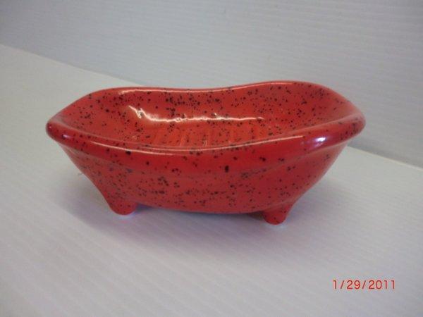Bathtub Soap dish - Red