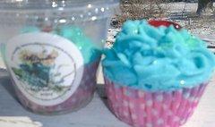 Eucalyptus - Spearmint Bath Bomb cupcake