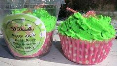 Happy Apple Bath Bomb cupcake