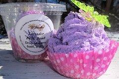 Lavender Bath bomb cupcake