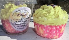 Lemon Lavender Bath bomb cupcake