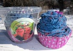 Bumbleberry Bath Bomb cupcake