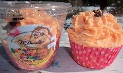Monkey Farts Bath Bomb cupcake