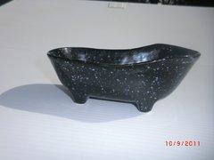 Bathtub container - Black sprinkle