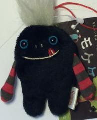 """Mokeke Strap Monster """"Neru Kuro"""" BK by Shinada"""