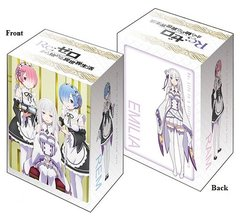 "Deck Holder Collection V2 ""Re: Zero -Starting Life in Another World- (Emilia & Ram & Rem)"" Vol.93 by Bushiroad"