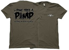 Pine Tree Pimp Keeping My Does in Check Whitetail Deer Hunting T-shirt