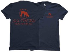 Southern Houndsman Brick Red Trailing Dog T-Shirt