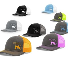 Hound Hunter Trailing Dog On Your State Mesh Snapback Cap